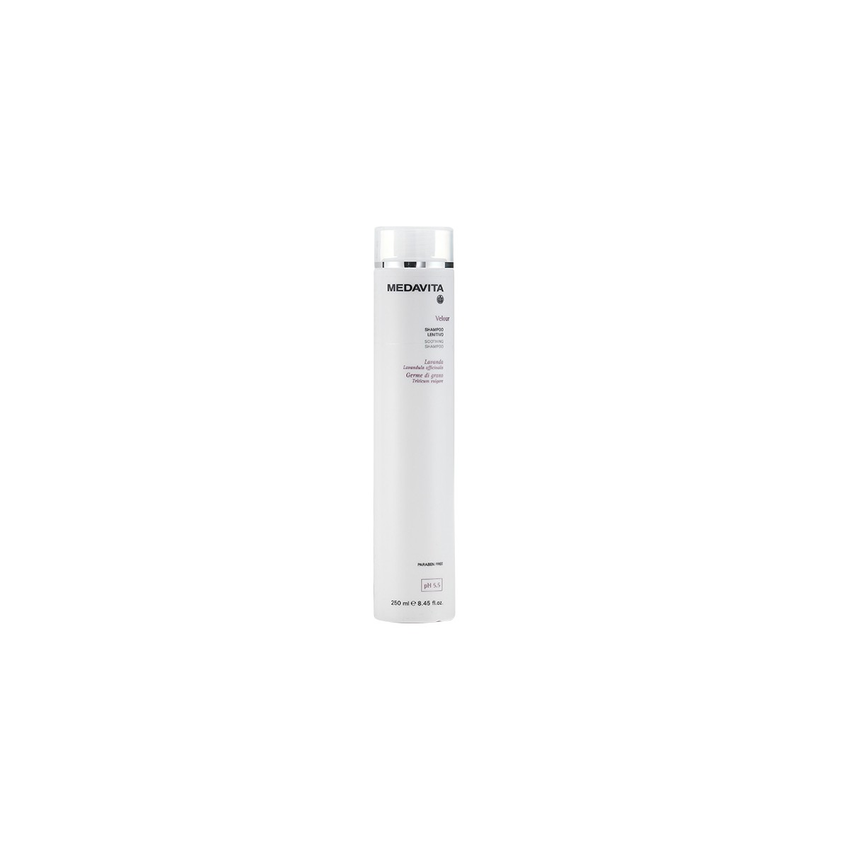 MEDAVITA Velour Shampoo Lenitivo 250ml - Szampon łagodzący do wrażliwej skóry głowy