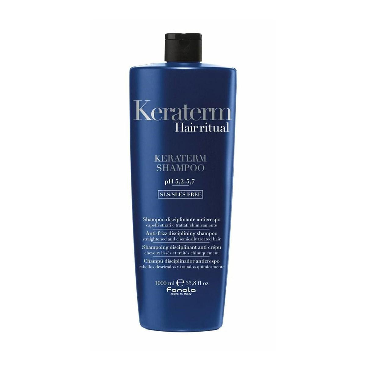 FANOLA Keraterm Shampoo 1000ml - Szampon odbudowujący z keratyną