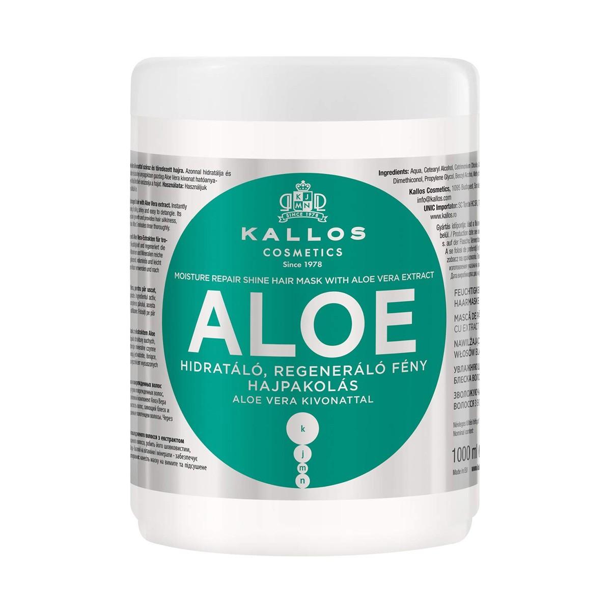 KALLOS KJMN Aloe Hair Mask 1000ml - Maska regenerująca i nawilżająca