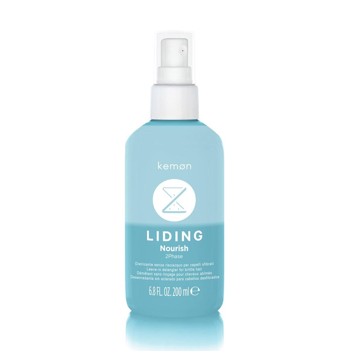 KEMON Liding Nourish Spray 2 Phase 200ml - Dwufazowy spray nawilżający i ułatwiający rozczesywanie