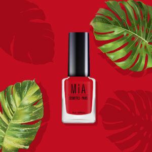 MIA COSMETICS Poppy Red 9-Free 11ml - Wegański lakier do paznokci