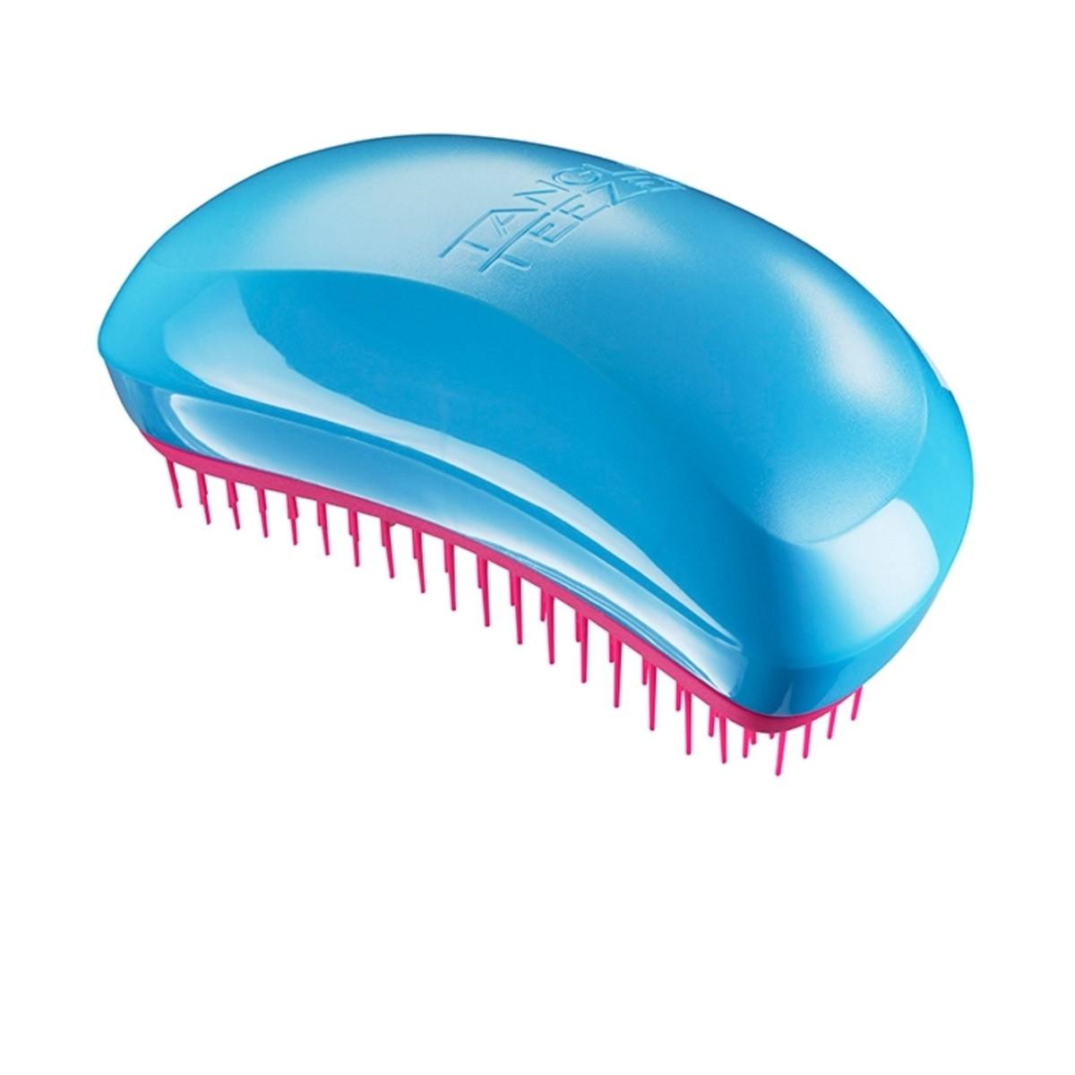 ANGLE TEEZER Salon Elite Blue Blush - Rewolucyjna szczotka do rozczesywania włosów (niebiesko-różowa)