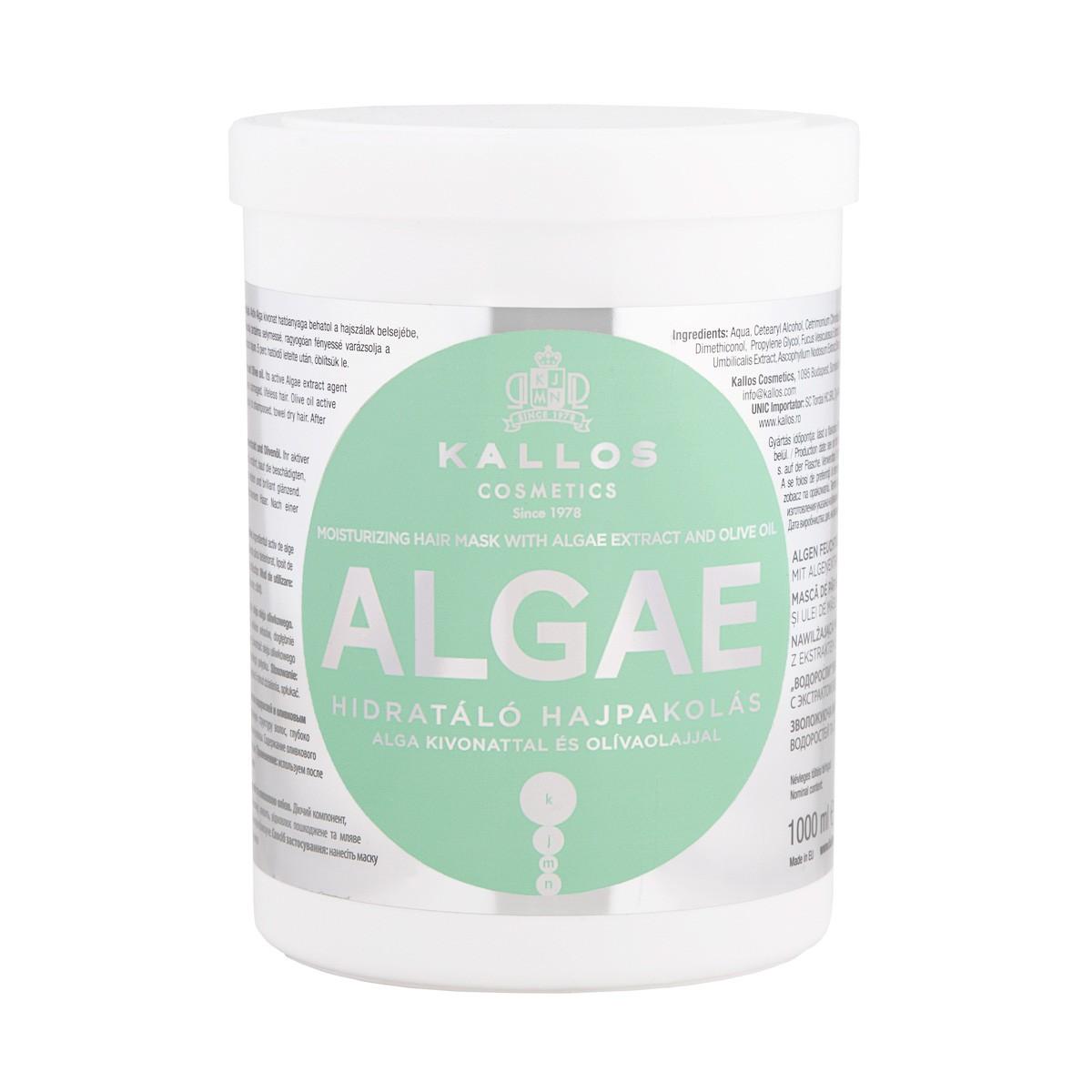 KALLOS KJMN Moisturizing Hair Mask With Algae Extract And Olive Oil 1000ml - Maska nawilżająca do włosów z ekstraktem algi i ol