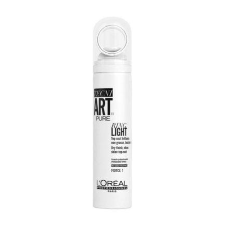 LOREAL Tecni Art Pure Ring Light 150ml - Bezzapachowy spray nabłyszczający