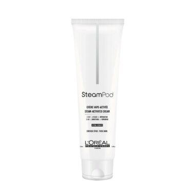 LOREAL Steampod Smoothing Cream Fiber Restoring (thick hair) 150ml - Odbudowujący i wygładzający krem do włosów grubych
