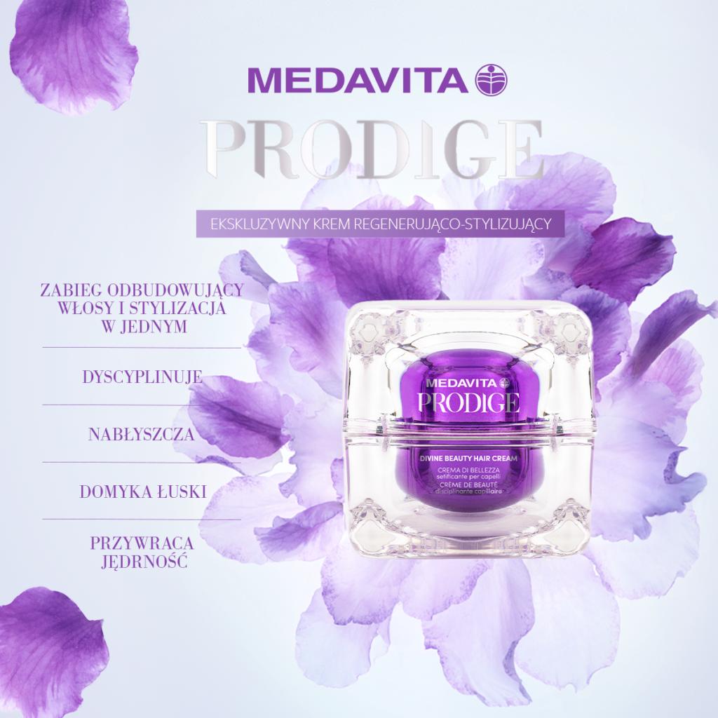 MEDAVITA Prodige Divine Beauty Hair Cream 50ml - Krem regenerujący do włosów zniszczonych