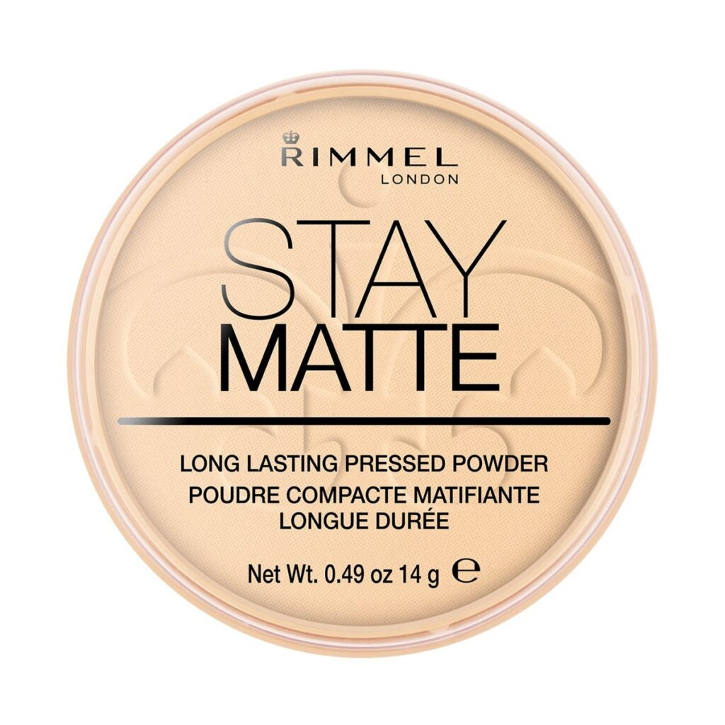 RIMMEL Stay Matte Transparent 14g - Puder matujący prasowany 001