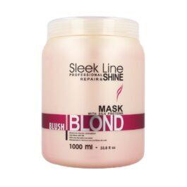 STAPIZ Sleek Line Blond Blush Mask 1000ml - Różowa maska z jedwabiem