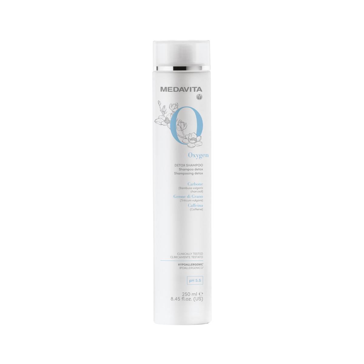 MEDAVITA Oxygen Detox Shampoo 250ml - Szampon detoksykujący, oczyszczający do każdego rodzaju włosów