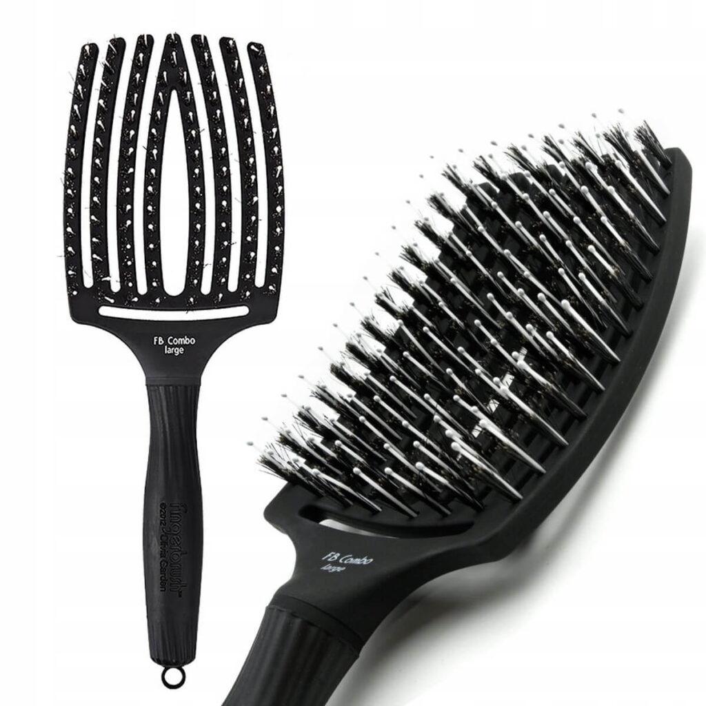 duża czarna OLIVIA GARDEN Finger Brush Combo Large