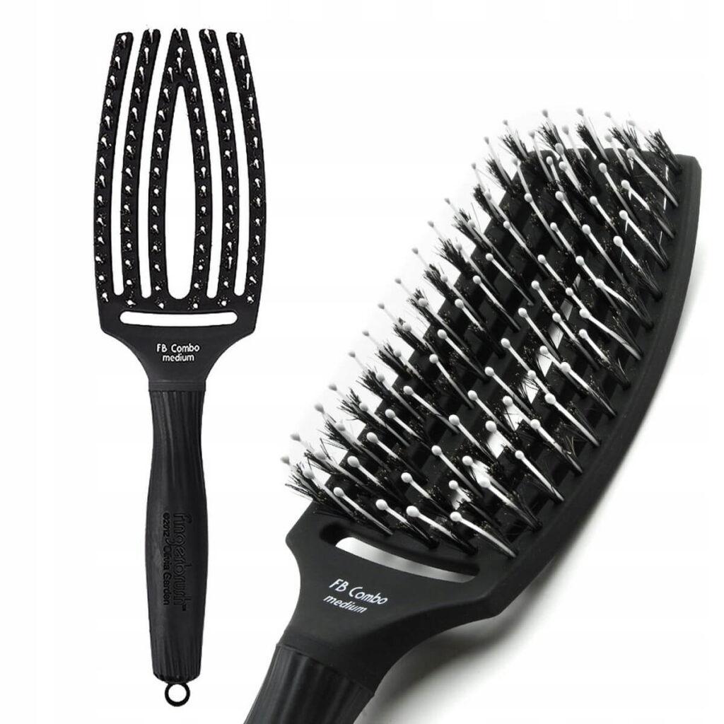 średnia czarna OLIVIA GARDEN Finger Brush Combo Medium