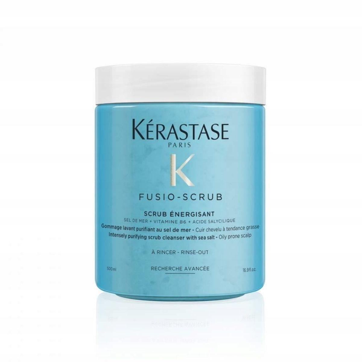 KERASTASE Fusio Scrub Energisant 650g - Peeling do skóry głowy oczyszczający