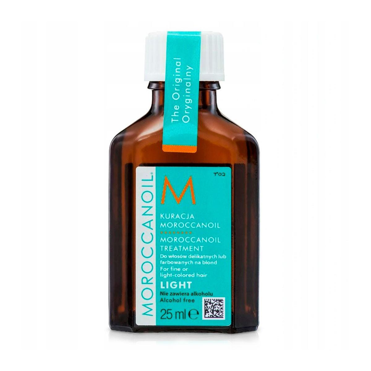 MOROCCANOIL Treatment Light 25ml - Naturalny olejek arganowy do włosów cienkich i delikatnych